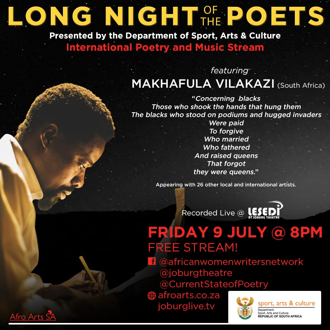 International Poetry And Music Virtual Event To Be Hosted At The Joburg Theatre
